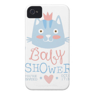 Coques Case-Mate iPhone 4 Modèle de conception d'invitation de baby shower