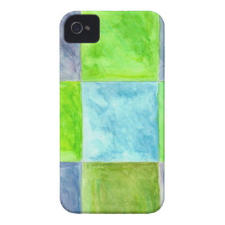 Coques Case-Mate iPhone 4 Motif de bleu et de vert