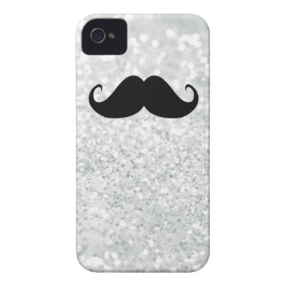 Coques Case-Mate iPhone 4 Moustache et étincelle noires drôles Bling de