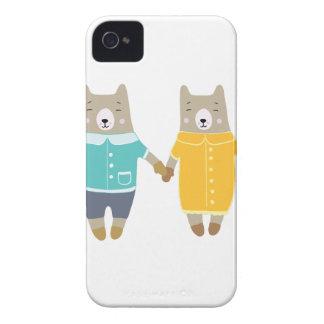 Coques Case-Mate iPhone 4 Paires mignonnes d'ours heureux