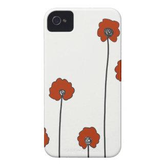Coques Case-Mate iPhone 4 pavots rouges