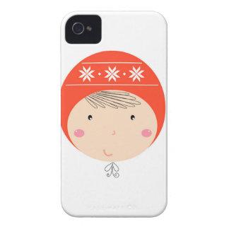 Coques Case-Mate iPhone 4 Petit bébé mignon sur l'édition du blanc/Noël