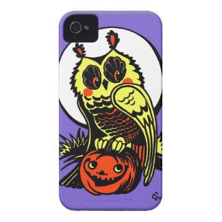 Coques Case-Mate iPhone 4 Rétro hibou de Halloween de style