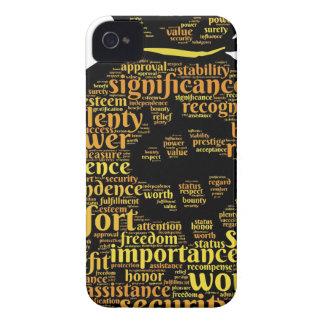 Coques Case-Mate iPhone 4 Typographie inspirée d'argent