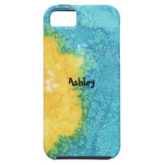Coques Case-Mate iPhone 5 Aquarelle bleue/jaune
