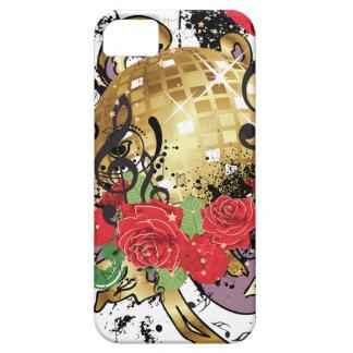 Coques Case-Mate iPhone 5 Boule grunge 2 de disco d'or