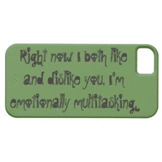 Coques Case-Mate iPhone 5 Caisse verte avec émotion multitâche de téléphone