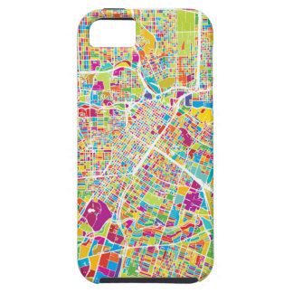 Coques Case-Mate iPhone 5 Carte au néon de Houston, le Texas |