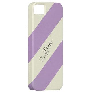 Coques Case-Mate iPhone 5 Combinaison de couleurs beige et violette. Se fait