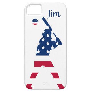 Coques Case-Mate iPhone 5 Drapeau d'Américain de base-ball de l'Amérique