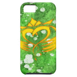 Coques Case-Mate iPhone 5 Éclaboussure celtique irlandaise de Claddagh
