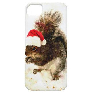 Coques Case-Mate iPhone 5 Écureuil de Noël avec le casquette de Père Noël