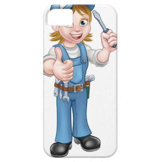 Coques Case-Mate iPhone 5 Électricien féminin de bande dessinée tenant le