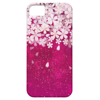 Coques Case-Mate iPhone 5 Fuchsia de fleurs de cerisier de Sakura et fleurs