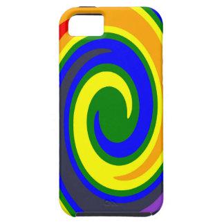 Coques Case-Mate iPhone 5 La pirouette ondule l'arc-en-ciel de couleurs,