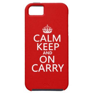 Coques Case-Mate iPhone 5 Le calme garde et sur Carry - toutes les couleurs