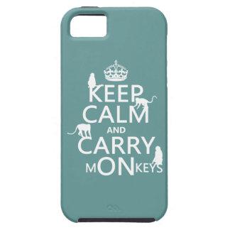 Coques Case-Mate iPhone 5 Maintenez calme et portez les singes - toutes les