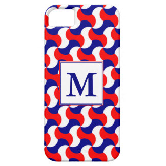 Coques Case-Mate iPhone 5 RÉTRO COPIE BLANCHE et BLEUE ROUGE avec le