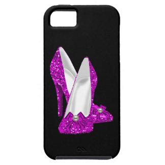 Coques Case-Mate iPhone 5 Rose de parties scintillantes de Stileto de