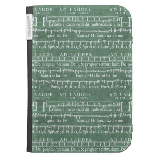 Coques Folio Kindle Le manuscrit médiéval de musique allument la
