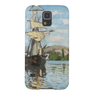Coques Galaxy S5 Bateaux de Claude Monet | montant sur la Seine à