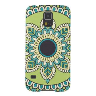 Coques Galaxy S5 Belle conception verte de Boho