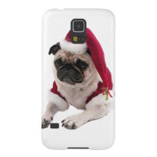 Coques Galaxy S5 Carlin de Noël - chien du père noël - poursuivez