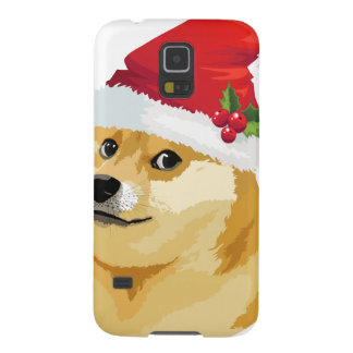 Coques Galaxy S5 Doge de Noël - doge de père Noël - chien de Noël
