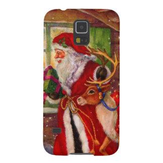 Coques Galaxy S5 Illustration du père noël - illustrations de Noël