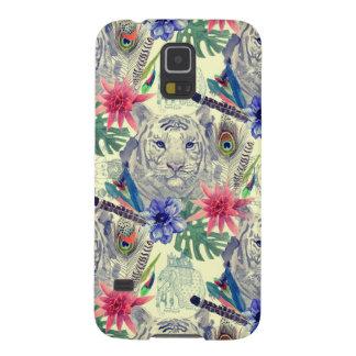 Coques Galaxy S5 Motif indien vintage de tigre de style