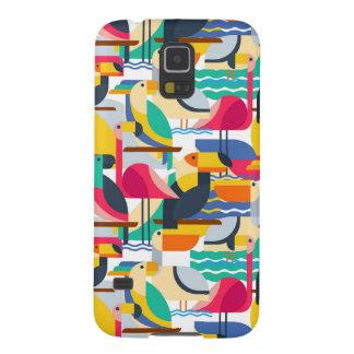 Coques Galaxy S5 Oiseaux tropicaux géométriques