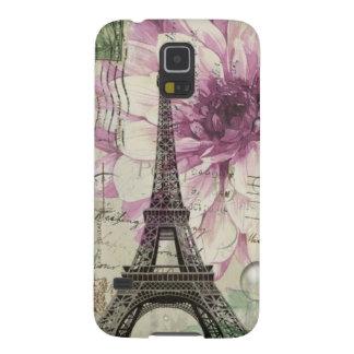 Coques Galaxy S5 Tour Eiffel vintage floral chic de Boho Paris