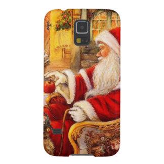 Coques Galaxy S5 Traîneau de Père Noël - illustration du père noël