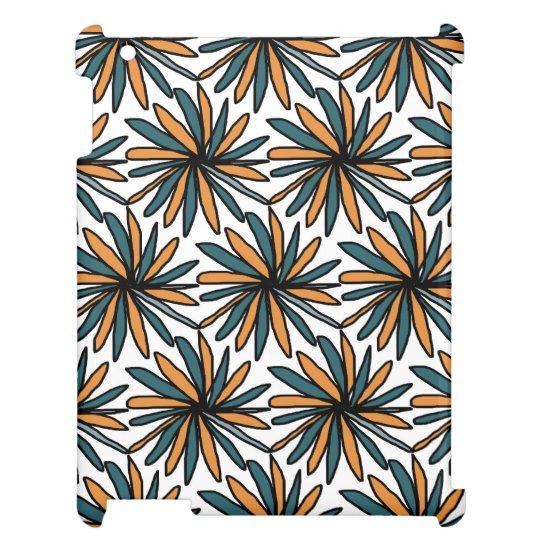 Coques iPad Coque I Pad motif graphique turquoise et orange