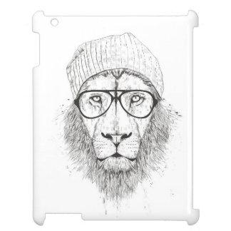 Coques iPad Lion frais (noir et blanc)