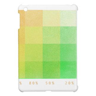 Coques iPad Mini 100% (vert et ocre)