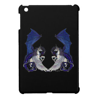 Coques iPad Mini Amants de licorne et de mariage de dragon