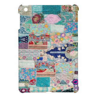 Coques iPad Mini Aqua et conception bleue de tapisserie d'édredon
