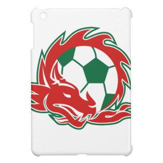 Coques iPad Mini Ballon de football de dragon de Gallois
