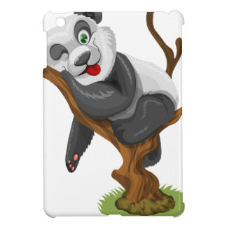 Coques iPad Mini beau heureux de bébé de panda de joie animale
