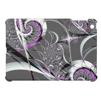 Coques iPad Mini Beaux-arts abstraits de rubans argentés