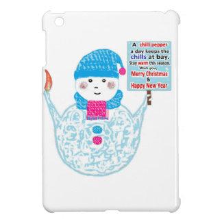 Coques iPad Mini Bonhomme de neige potelé
