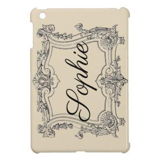 Coques iPad Mini Cadre fleuri vintage/victorien Personnalised