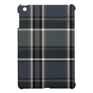 Coques iPad Mini Cas   dur brillant de HAMbyWG - noir du plaid W