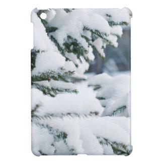 Coques iPad Mini Chute de neige d'arbre de réveillon de Noël