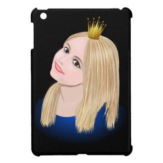 Coques iPad Mini Couronne de port de jeune princesse blonde