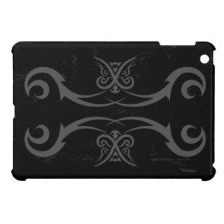 Coques iPad Mini Couverture de cas d'iPad noir et gris de tatouage