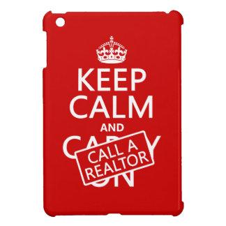 Coques iPad Mini Gardez le calme et appelez un agent immobilier