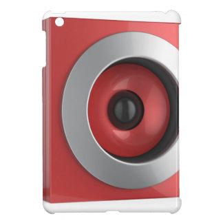 Coques iPad Mini Haut-parleur rouge
