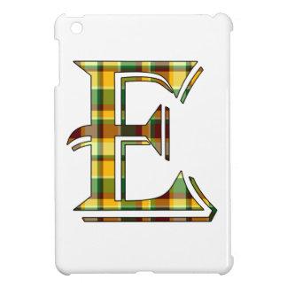 Coques iPad Mini Initiale de plaid d'E